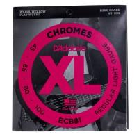 D Addario ECB81 45 100 Chromes Flat Wound