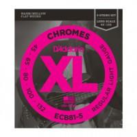 D Addario ECB81 5 40 132 Chromes Flat Wound