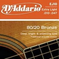D Addario EJ10 Ac  Bronze Wound  010  047
