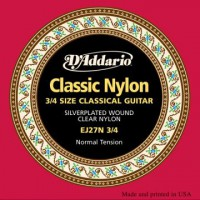D Addario EJ27N 3 4 Cl  Student Clear Nylon Normal