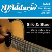 D Addario EJ35 Folk Silk   Steel 12 Strings