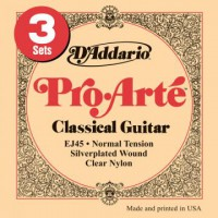 D Addario EJ45 3D Pro Arte Classic Normal 3 Pack