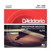D Addario EJ74 Mandolin Phosphor Bronze 11
