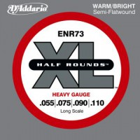 D Addario ENR73 Long Scale 55 110 Half Round