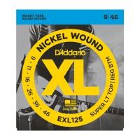 D Addario EXL125 Nickel Round Wound  009    046