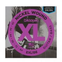 D Addario EXL156 Nickel Fender Bass VI  24 84