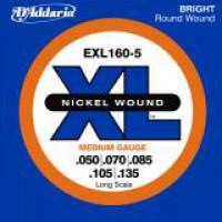 D Addario EXL160 5 Longscale 5 String  050    135