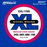 D Addario EXL170S Shortscale Nickel  045    100
