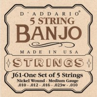 D Addario J61 Banjo Strings nickel medium 10 23