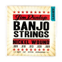 Dunlop DJN0920 Banjo 5 String  009    020 Nickel W
