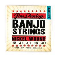 Dunlop DJN0920 Banjo 5 String  009    020 Nickel W