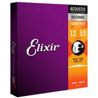 Elixir 11052 Ac  NANOWEB 80 20 Bronze  012    053