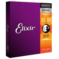 Elixir 11152 NANOWEB 80 20 Bronze  010  047 12 Str
