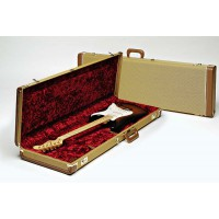 Fender Deluxe Tweed Case Red Poodle Plush Interior