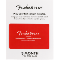 Fender Play Card 3 Month Access Online Lessons