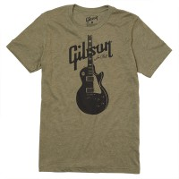 Gibson T Shirt Les Paul Olive Green L