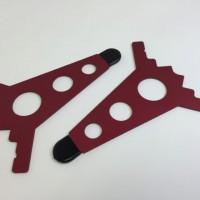 Intellijel Case 7U Joiner Plates Red Paar