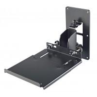 K M 24171 Boxenwandhalterung mit Platte schwarz