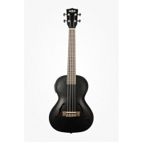 Kala Archtop Tenor Ukulele Metallic Black   Case