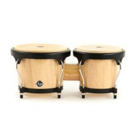 Latin Percussion Aspire Wood Bongos Natural