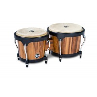 Latin Percussion Aspire Wood Bongos Walnut