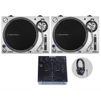 Omnitronic Audio Technica LP140XP Silv DJ Vinylset
