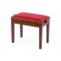 Pianobank Cherrywood Polished Standard Polster Red