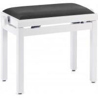 Pianobank White Matt Standard Polster Black PB39