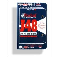 Radial J 48 DI Box mit Phantom Power