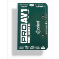 Radial Pro AV1 Passiv Multimedia DI Box 1 Channel