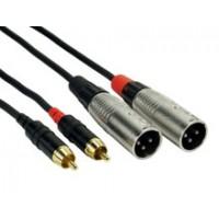 Rock Cable 2x XLRm  2x Cinch RCSI1MXC 1m