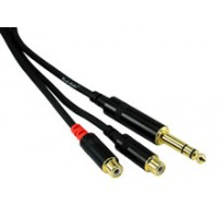 Rock Cable RCY03PSFC Y Kabel TRSm   2x RCAf 0 3m