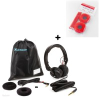 Sennheiser HD 25 Plus   Polster Set Velour Red