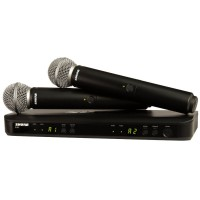 Shure BLX 288E M17 SM58 SM Wireless Analog Combo