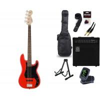 Starterset E Bass Squier A  Precision B  PJ RCR