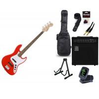 Starterset E Bass Squier Affinity Jazz Bass RCR