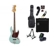 Starterset E Bass Squier CV 60s Jazz B  LRL D Blue