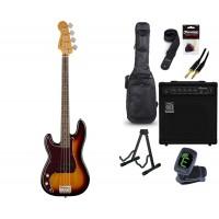 Starterset E Bass Squier CV 60s Precision LH 3CSB