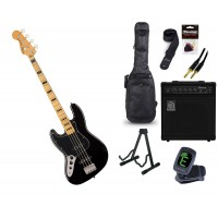 Starterset E Bass Squier CV 70s Jazz B  LH MN Blac