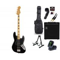 Starterset E Bass Squier CV 70s Jazz Bass Black