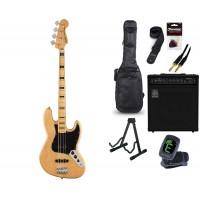 Starterset E Bass Squier CV 70s Jazz Bass Natural