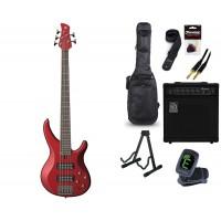 Starterset E Bass Yamaha TRBX 305 Candy Apple Red