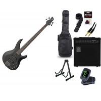 Starterset E Bass Yamaha TRBX 504 Translucent Blac