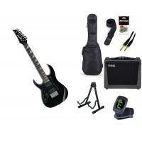 Starterset E Gitarre Ibanez GRGM21L Black Night LH