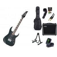 Starterset E Gitarre Ibanez GRGM21 Black Night