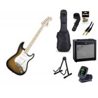 Starterset E Gitarre Squier Affinity SC 2 CSB MN