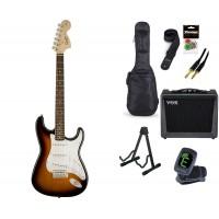Starterset E Gitarre Squier Affinity SC BSB Laurel