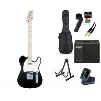 Starterset E Gitarre Squier Affinity TC Black MN
