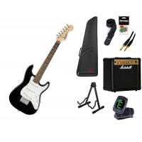 Starterset E Gitarre Squier Mini Strat Black