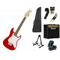 Starterset E Gitarre Squier Mini Strat Dakota Red